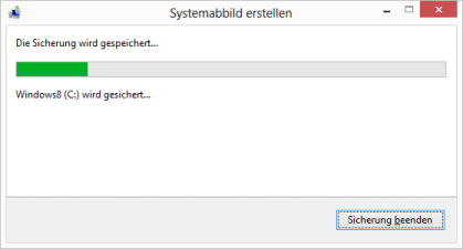 Windows 8 Systemabbild erstellen